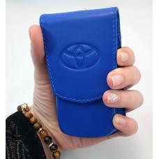 Противоугонный экранирующий кожаный чехол для авто-ключей с бесключевым доступом. Формованная кожа.