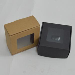 Подарочная коробка из крафт-картона 180X180X90 мм