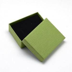 Подарочная коробка для ювелирных изделий 9x7x3 см, цвет оливковый