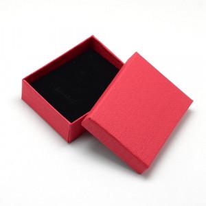 Подарочная коробка для ювелирных изделий 9x7x3 см, цвет красный