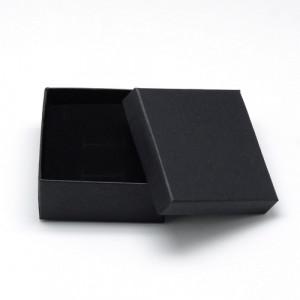 Подарочная коробка для ювелирных изделий 7x7x3.5 см, цвет черный