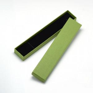 Подарочная коробка для ювелирных изделий 21x4x2 см, цвет оливковый