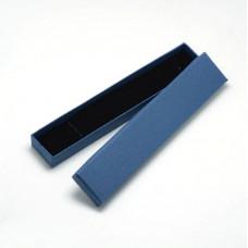 Подарочная коробка для ювелирных изделий 21x4x2 см, цвет, синий