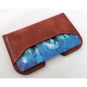 Дизайнерский кожаный экранирующий картхолдер для банковских карт с RFID - чипом