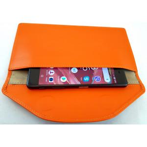 Экранирующий кожаный чехол для телефона. Два кармана
