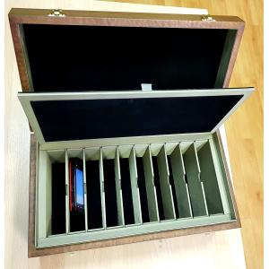 Экранирующая шкатулка-кейс с ячейками для телефонов.