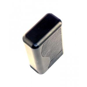 Алюминиевый экранирующий футляр с кожаными вставками.  Экранирующий алюминиевый футляр  для смарт-ключей авто с системой бесключевого доступа