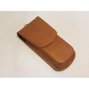 Противоугонный экранирующий кожаный чехол для авто-ключей с бесключевым доступом. Формованная кожа. арт.#keyless2