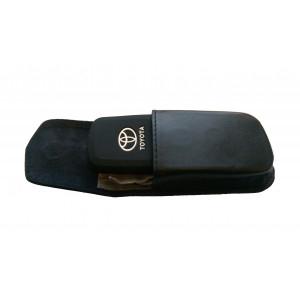 Противоугонный экранирующий кожаный футляр для авто-ключей с системой бесключевого доступа