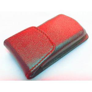 Противоугонный экранирующий кожаный чехол для авто-ключей с бесключевым доступом. Формованная кожа. арт.#keyless